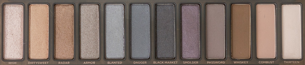 Urban Decay Naked Smoky Palette - shades