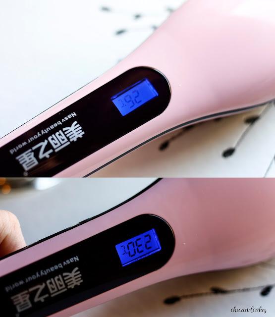 cepillo de calor con lcd