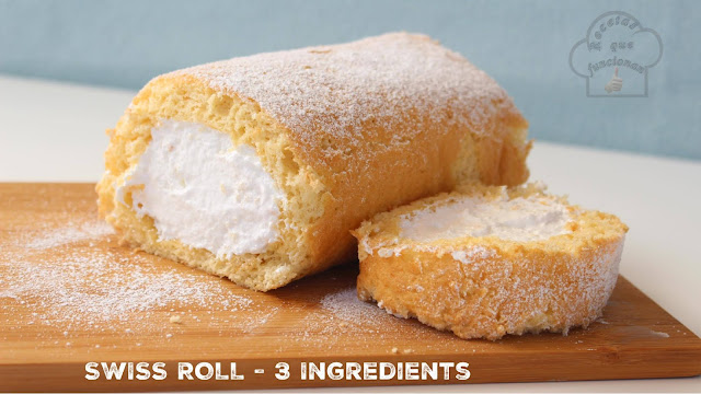 Brazo gitano - Swiss Roll - Rollo suizo 3 ingredientes