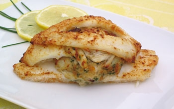 miami beach personal chef - crab stuffed flounder