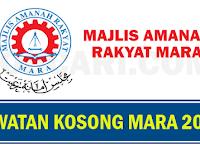 JAWATAN KOSONG DI MAJLIS AMANAH RAKYAT MARA - GAJI RM1,549.00 - RM5,701.00