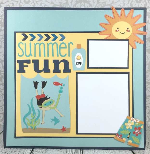 Cricut Summer Fun layoutv