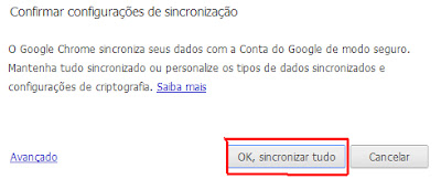 Sincronizando seus favoritos no Chrome