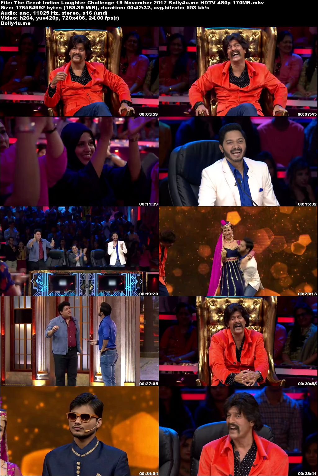 The Great Indian Laughter Challenge HDTV 480p 170MB 19 November 2017 Download