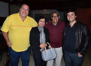 esq. p/ dir. - Marcão, sec. Trabalho, Jussara e César Ribeiro, empresários, e Raphael Teixeira, ex-secretário municipal