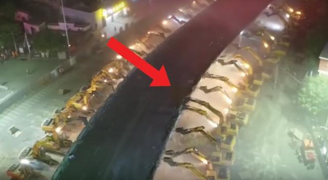 Foto de demolição de viaduto na china