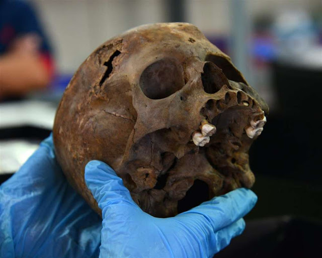 Remains of sacrificed child discovered at foot of Templo Mayor in Mexico City