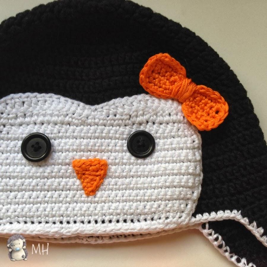 Gorro pingüino a crochet
