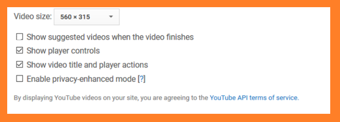 Uptions button in youtube video