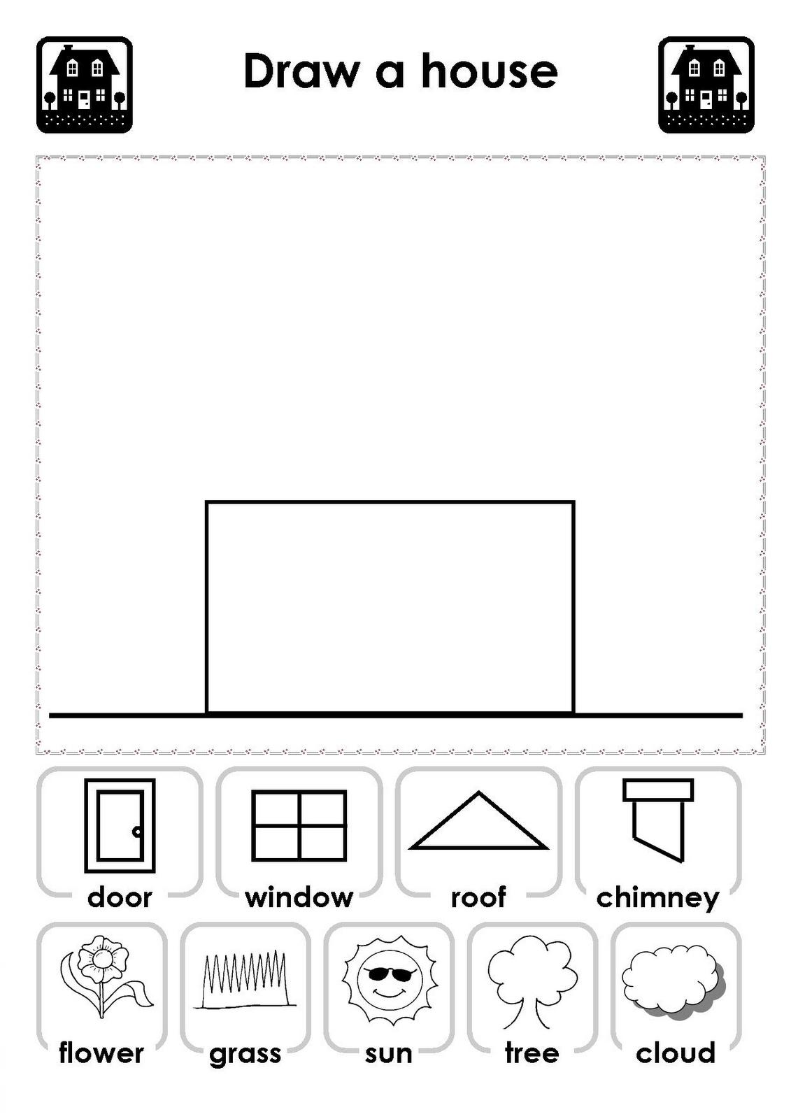 Kids House Drawing: .:TaBiKa KEMAS Kem TeRenDak:.: Tema : Rumah Saya