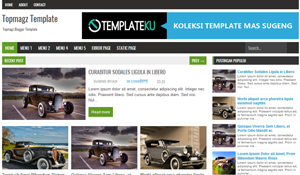 Top magz Blogger Template New