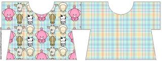 Tarjeta con forma de camisa de La Granja Bebés en Celeste.