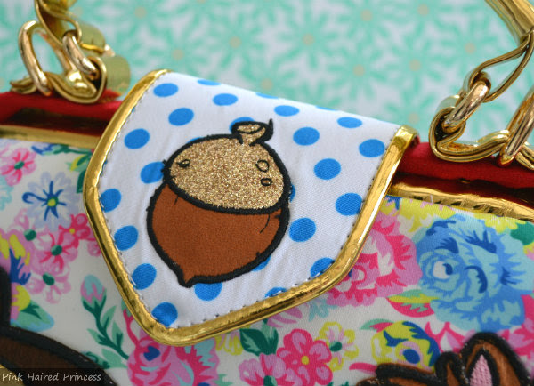 irregular choice disney chip n dale bag polka dot flap with applique acorn