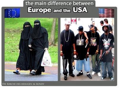 Lustiges Bild Muslime in Deutschland und Straßengangs in den USA