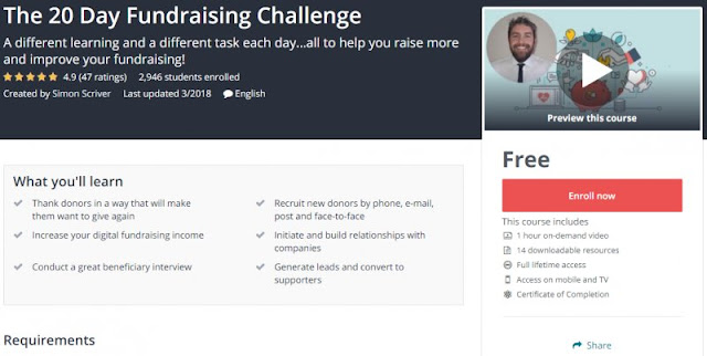 [100% Free] The 20 Day Fundraising Challenge