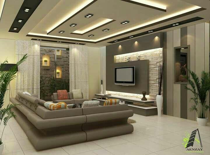 ديكورات غرف الجلوس المودرن اشكال من افضل اشكال الجبس | شركة ارابيسك