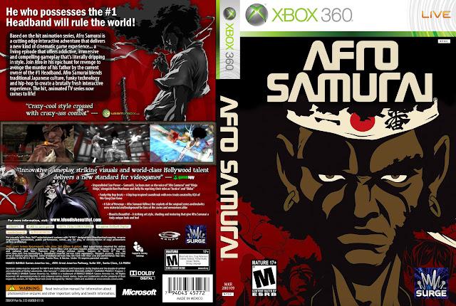 Capa xBox360 Afro Samurai