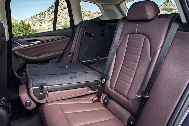 Novo BMW X3 2018 - interior