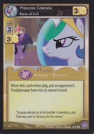 My Little Pony Princess Celestia, Bane of Evil The Crystal Games CCG Card