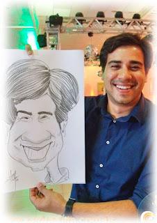 caricatura ao vivo em feiras