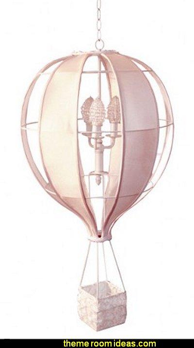 Hot Air Balloon Chandelier in Soft Pink