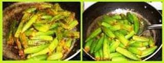Stuffed Bhindi step 2