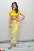 Richa Panai in Yellow Slim Fit Crop top ~ CelebxNext 027.JPG