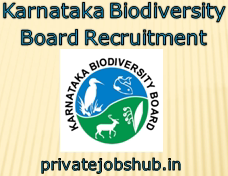 Karnataka Biodiversity Board Recruitment