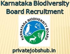 Karnataka Biodiversity Board Recruitment