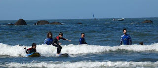 Asturias, escuela de surf Rompiente Norte.