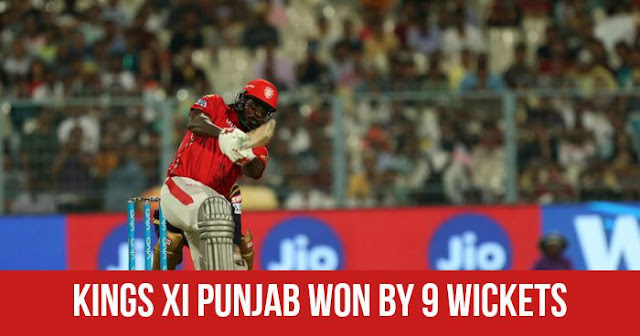 Kings XI Punjab won by 9 Wickets (D/L)