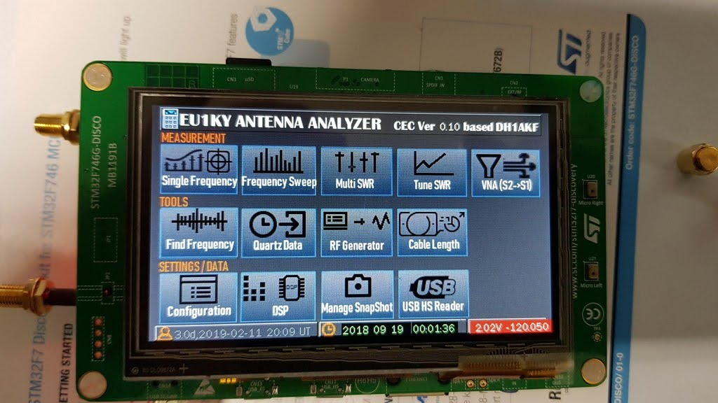 3  Antenna Analyzer(EU1KY) - How to update the firmware