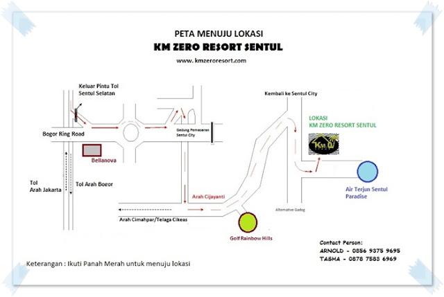 Peta Menuju Lokasi KM Zero Resort - Blog Mas Hendra