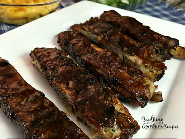 Easy and Delicious BBQ Ribs from Walking on Sunshine Recipes FEATURED photo