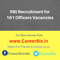 RBI Recruitment for 161 Officers Vacancies