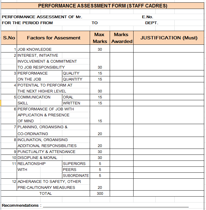 Performance Report Template. doc 22001700 performance report ...