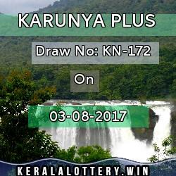 Kerala Lottery Karunya Plus KN-172