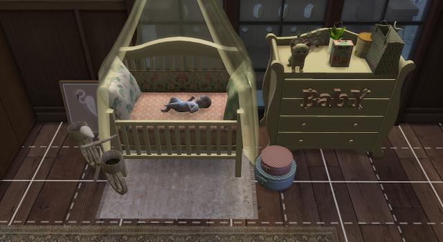 lado de una habitación de una casa en los sims 4