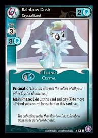 My Little Pony Rainbow Dash, Crystallized The Crystal Games CCG Card