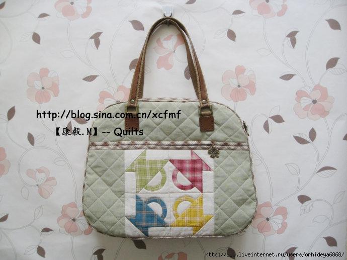 Несложная модель сумки. Patchwork bag DIY tutorial