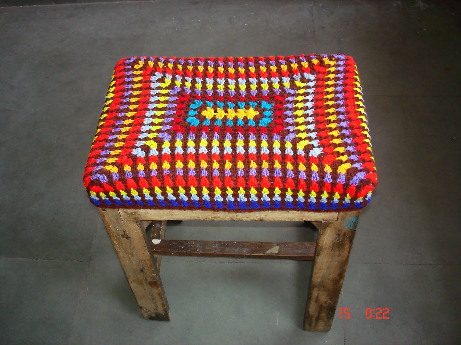 Book Cover Crochet S : The lazy hobbyhopper crocheted stool cover