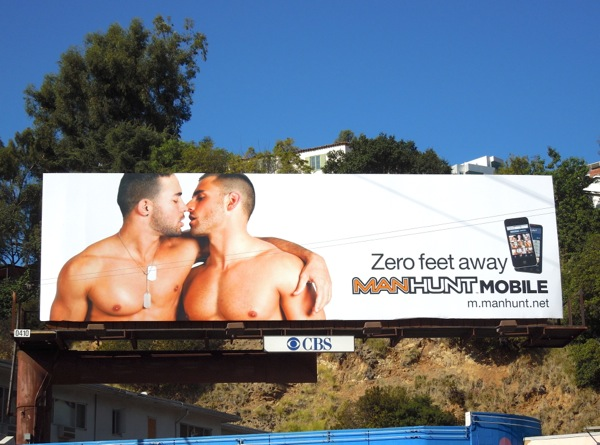 Manhunt mobile billboard Sunset Boulevard Jan12