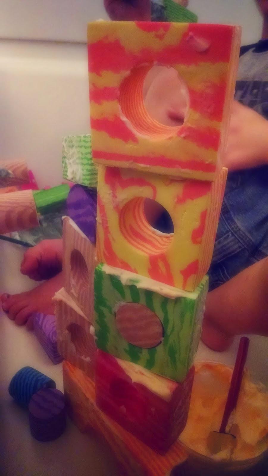 quiet activities for kids foam blocks