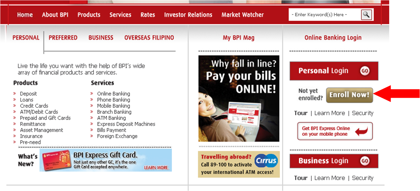 how to pay philhealth online bpi