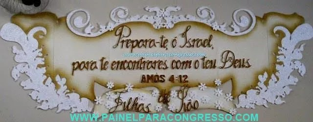placa decorativa para aniversário da igreja / Amós 4:12