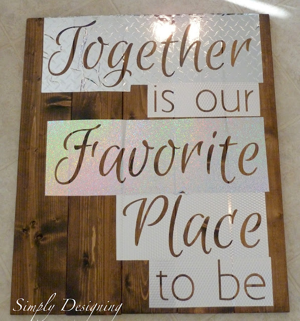 Pallet-Style DIY Sign: using vinyl as a stencil for sign verbiage