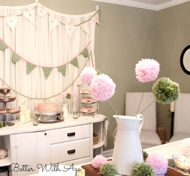 Pompom flowers  www.somuchbetterwithage.com