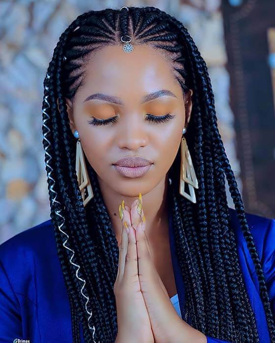 21 Cute African Cornrow Braided Styles Ponytails To Try In 2020