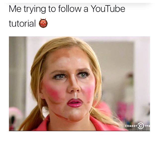 Me trying to follow a Youtube tutorial.