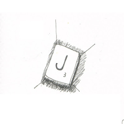 scrabble tile drawing